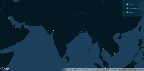 Wordpress activity in Indian Subcontinent