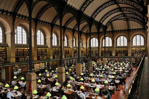 Reading room at Labrouste's Saint Genevieve library