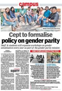 News about CEPT - Gender Parity.2015