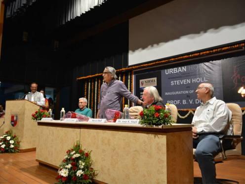 Steven Holl and B V Doshi at Nirma Kalp 2015