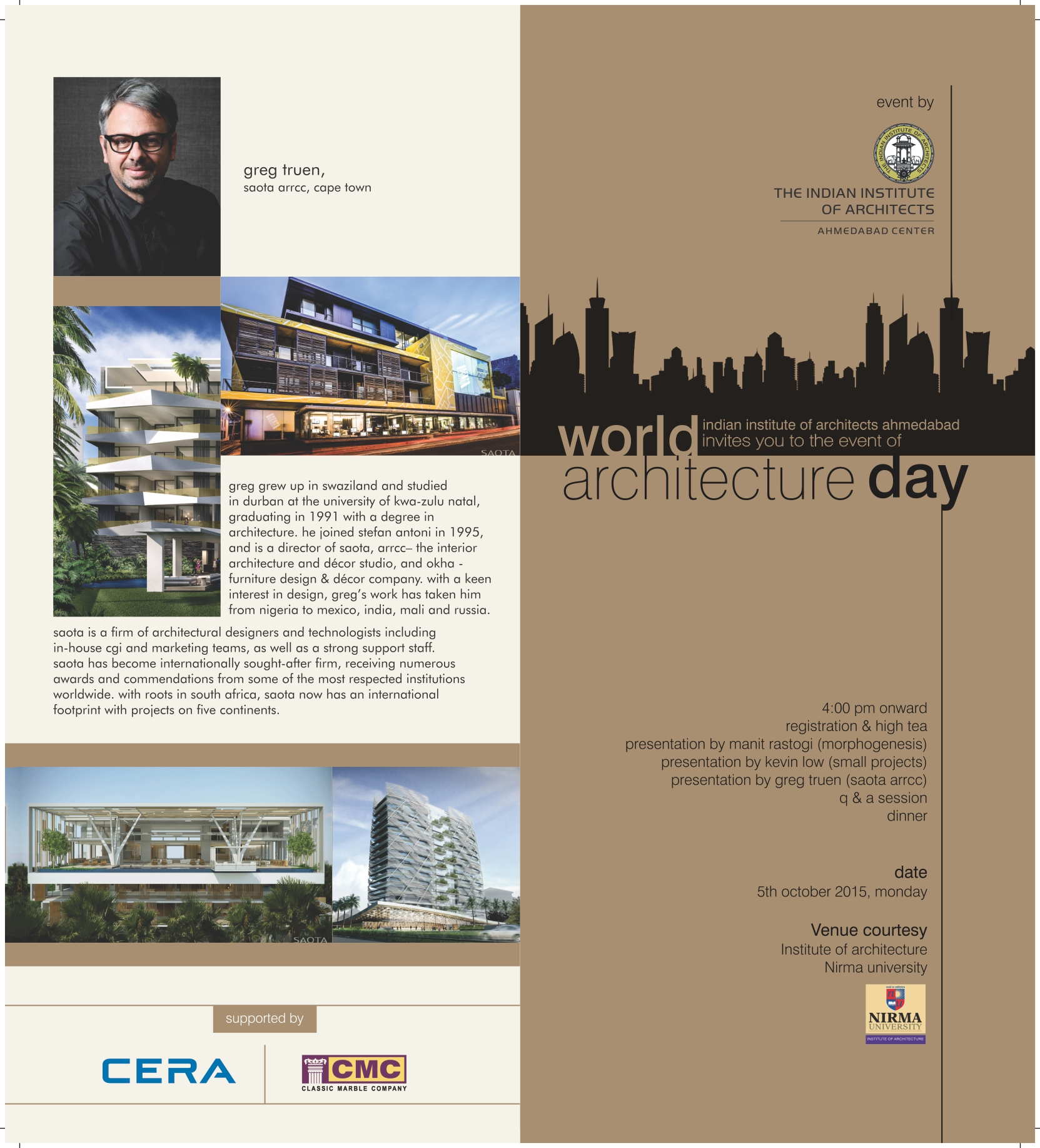 Celebrating world architecture day at nirma university 5 october celebrating world architecture day at nirma university 5 october 2015 architecture indeed stopboris Images