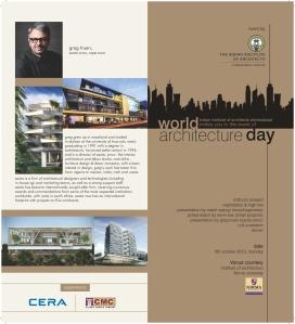 Invitation to World Architecture Day Celebration 5 October 2015