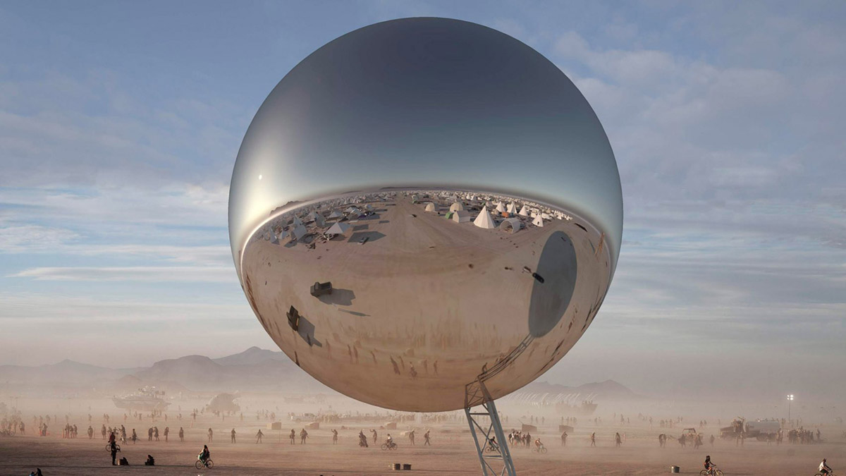 Mirrored Sphere at Burning Man 2018.jpg